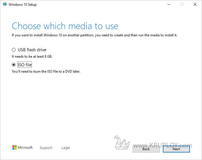 เลือก ISO file