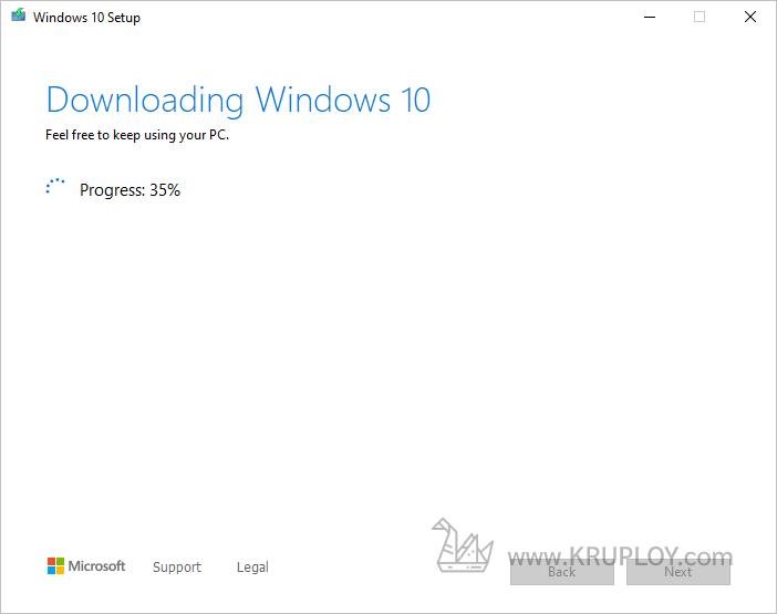 เริ่มต้น Download Windows 10 ISO