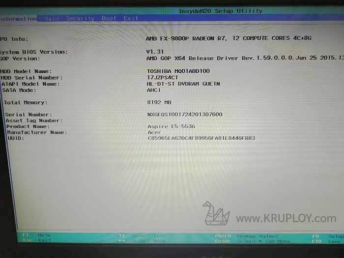 Acer BIOS