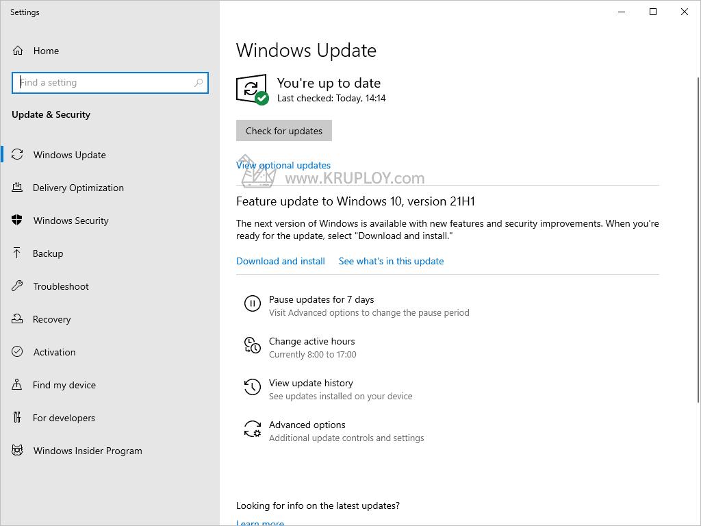ปิดอัพเดท Windows 10 Update