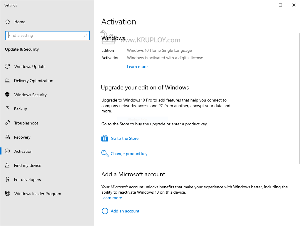 Activate Windows 10 ถาวร