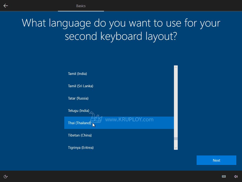 เพิ่ม Keyboard ไทย