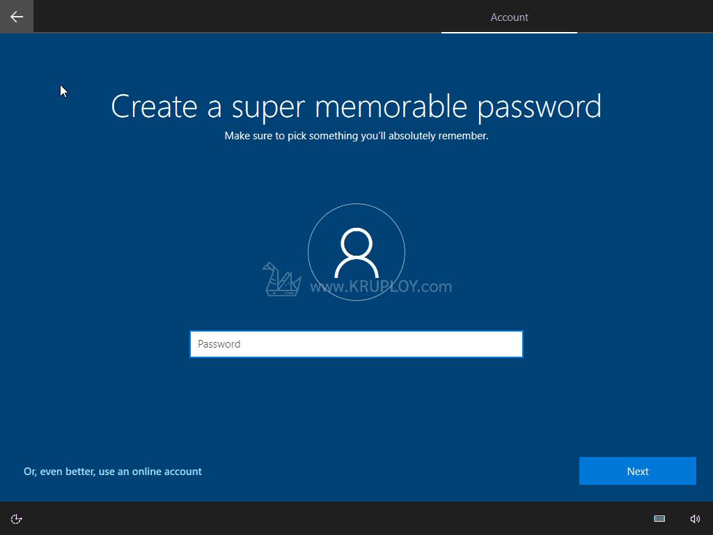 กำหนดรหัสผ่าน