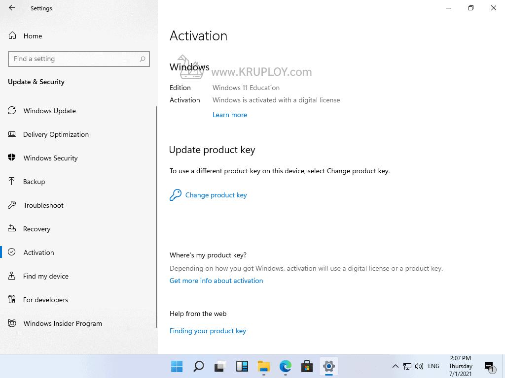 Activate Windows 11 สำเร็จ