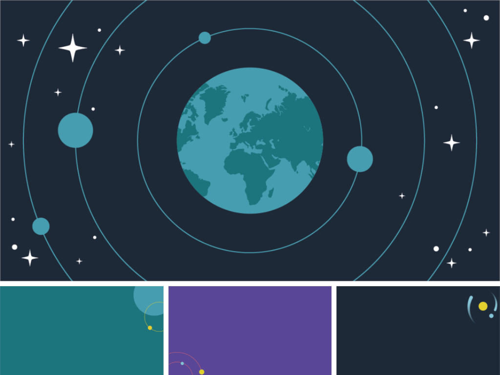 ตัวอย่างพื้นหลังดาราศาสตร์