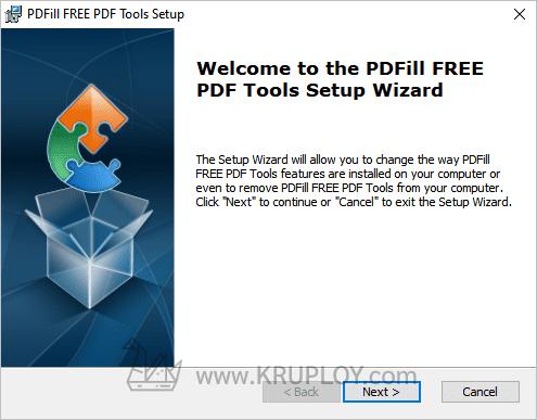 หน้าต่าง Setup Wizard