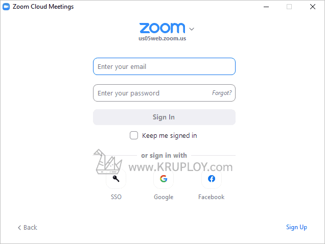 เข้าสู่ระบบ zoom