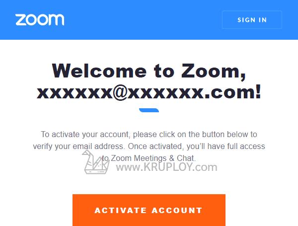 กดปุ่ม Activate Account