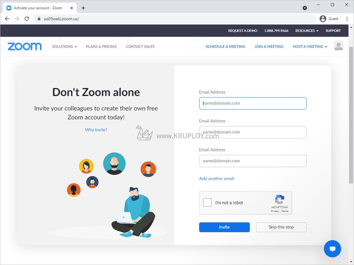 เชิญคนอื่นให้มาสมัคร zoom