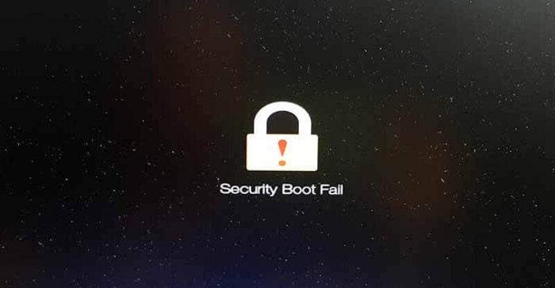 วิธีแก้ ปิด Security Boot Fail บนโน๊ตบุ๊ค Acer